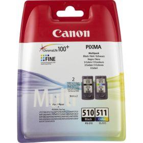 CANON ORIGINAL - Canon PG510 / CL511 Pack Eco de 2 cartouches noir + couleurs