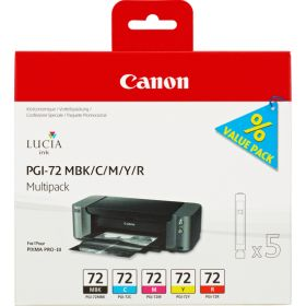 CANON ORIGINAL - Multipack Canon PGI-72 Pack de 5 cartouches MBK/C/M/Y/R
