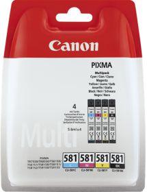CANON ORIGINAL - Canon CLI-581 Multipack de 4 cartouches Noir(e) / Cyan / Magenta / Jaune