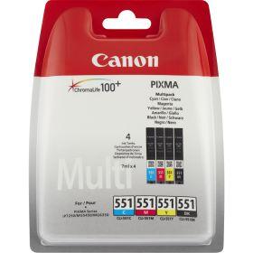 CANON ORIGINAL - Canon CLI-551 Multipack 4 cartouches (Noir, Cyan, Magenta, Jaune)- 6509B009 - 4x 7ml