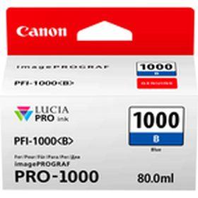 CANON ORIGINAL - Canon PFI-1000 Bleu (80 ml) Cartouche de marque