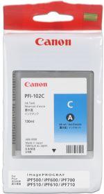 CANON ORIGINAL - Canon PFI-102 Cyan (130 ml) Cartouche de marque