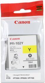 CANON ORIGINAL - Canon PFI-102 Jaune (130 ml) Cartouche de marque