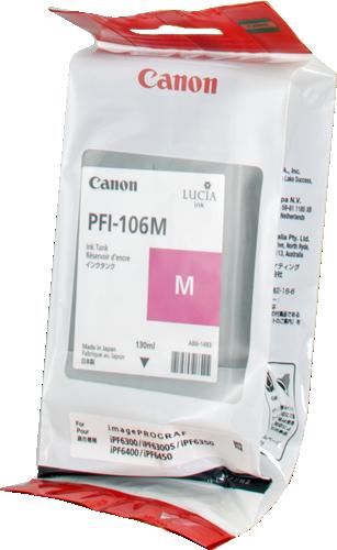 CANON ORIGINAL - Canon PFI-106 Magenta (130 ml) Cartouche de marque