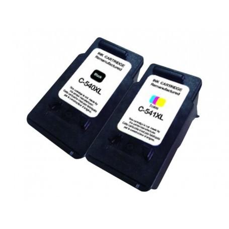 COMPATIBLE CANON - PG540XL Noire + CL541XL couleurs Pack de 2 cartouches remanufacturées Canon Qualité Premium