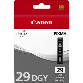 CANON ORIGINAL - Canon PGI-29DGY Gris foncé Cartouche de marque