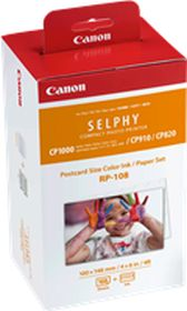 CANON ORIGINAL - Canon RP-108 Value Pack composé de 2 cassettes d'impression et 108 feuilles de papier photo 100 x 148mm