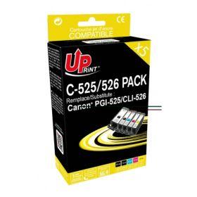 PREMIUM - UPrint PGI-525 CLI-526 Pack 5 cartouches Qualité Premium remanufacturées Canon
