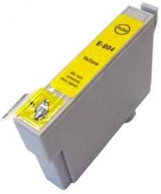COMPATIBLE EPSON - T0804 Jaune (19 ml) Cartouche générique avec puce