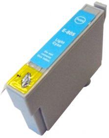 COMPATIBLE EPSON - T0805 Cyan Clair (19 ml) Cartouche générique avec puce