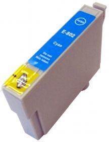 COMPATIBLE EPSON - T0802 Cyan (19 ml) Cartouche générique avec puce