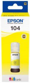 EPSON ORIGINAL - EPSON 104 Jaune Bouteille recharge d'encre de marque EPSON Ecotank (65ml)
