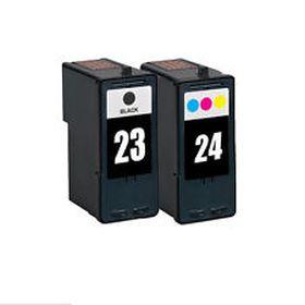 RECYCLE LEXMARK - N°23 / N°24 Pack de 2 cartouches remanufacturées noire et couleur