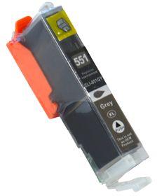 COMPATIBLE CANON - CLI-551XL grise (12 ml) Cartouche générique avec puce