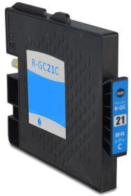 COMPATIBLE RICOH - GC-21 Cyan (1000 pages) Cartouche gel remanufacturée avec puce
