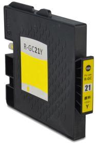 COMPATIBLE RICOH - GC-21 Jaune (1000 pages) Cartouche gel remanufacturée avec puce