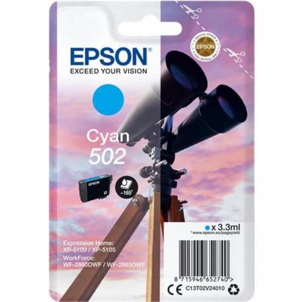 EPSON ORIGINAL - Epson 502 Cyan (3,3 ml) Cartouche de marque T02V24010