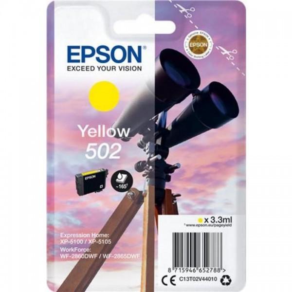 EPSON ORIGINAL - Epson 502 Jaune (3,3 ml) Cartouche de marque T02V44010