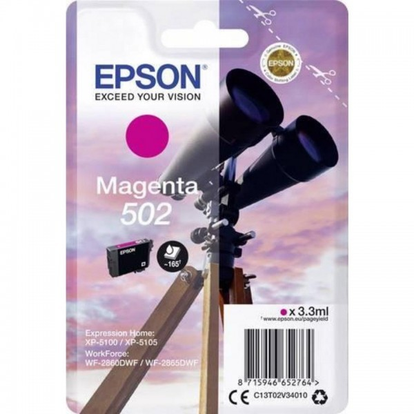 EPSON ORIGINAL - Epson 502 Magenta (3,3 ml) Cartouche de marque T02V34010