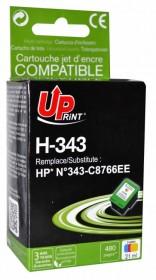 UPRINT - UPrint 343 Couleurs Cartouche remanufacturée HP Qualité Premium C8766EE