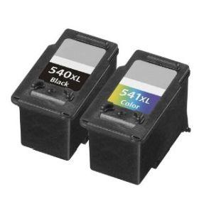 COMPATIBLE CANON - PROMOTION PG540XL Noire + CL541XL couleurs Pack de 2 cartouches remanufacturées
