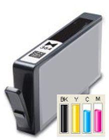 COMPATIBLE HP - 364XL Photo Noir (6 ml) Cartouche générique avec puce et niveau d'encre