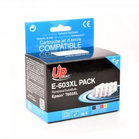 UPRINT - UPrint 603XL Multipack de 4 cartouches génériques Epson Qualité Premium