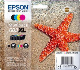 EPSON ORIGINAL - Epson 603XL (20,9 ml) Multipack de 4 cartouches de marque Noir, Cyan, Magenta, Jaune