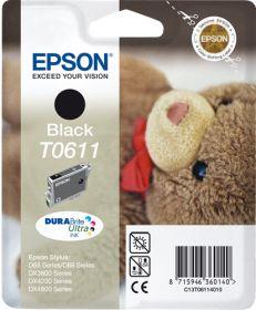 EPSON ORIGINAL - Epson T0611 Noir (8 ml) Cartouche de marque