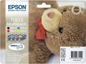 EPSON ORIGINAL - Epson T0615 Multipack de 4 cartouches (Noir, Cyan, Magenta, Jaune)