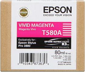 EPSON ORIGINAL - Epson T580A Magenta vif (80 ml) Cartouche de marque