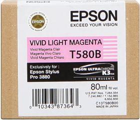 EPSON ORIGINAL - Epson T580B Magenta vif clair (80 ml) Cartouche de marque