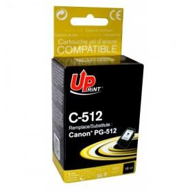 UPRINT - UPrint PG-512 noire (18 ml) Cartouche recyclée Canon Qualité premium