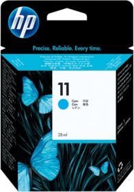HP ORIGINAL - HP 11 / C4836A Cyan (28 ml) Cartouche de marque