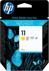 HP ORIGINAL - HP 11 / C4838A Jaune (28 ml) Cartouche de marque
