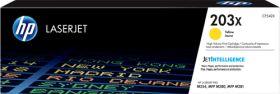 HP ORIGINAL - HP 203X / CF-542X Jaune (2500 pages) Toner de marque