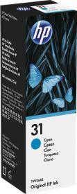 HP ORIGINAL - HP 31 Cyan (70 ml) Bouteille recharge d'encre de marque 1VU26AE