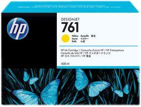 HP ORIGINAL - HP 761 / CM992A Jaune (400 ml) Cartouche de marque