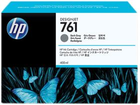 HP ORIGINAL - HP 761 / CM996A Gris foncé (400 ml) Cartouche de marque