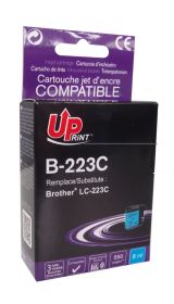 UPRINT - UPrint LC-223 Cyan (550 pages) Cartouche compatible Brother Qualité Premium
