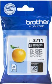 BROTHER ORIGINAL - Brother LC-3211 Noir (200 pages) Cartouche de marque