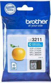 BROTHER ORIGINAL - Brother LC-3211 Cyan (200 pages) Cartouche de marque