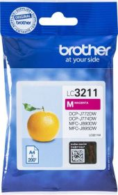 BROTHER ORIGINAL - Brother LC-3211 Magenta (200 pages) Cartouche de marque