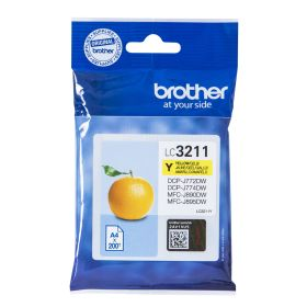 BROTHER ORIGINAL - Brother LC-3211 Jaune (200 pages) Cartouche de marque