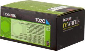 LEXMARK ORIGINAL - Lexmark 702C / 70C20C0 Cyan (1000 pages) Toner de marque