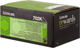 LEXMARK ORIGINAL - Lexmark 702K / 70C20K0 Noir (1000 pages) Toner de marque