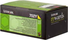 LEXMARK ORIGINAL - Lexmark 702Y / 70C20Y0 Jaune (1000 pages) Toner de marque