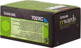 LEXMARK ORIGINAL - Lexmark 702XC / 70C2XC0 Cyan (4000 pages) Toner de marque