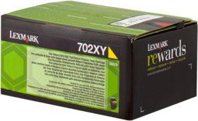 LEXMARK ORIGINAL - Lexmark 702XY / 70C2XY0 Jaune (4000 pages) Toner de marque