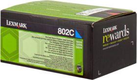 LEXMARK ORIGINAL - Lexmark 80C20C0 Cyan (1000 pages) Toner de marque